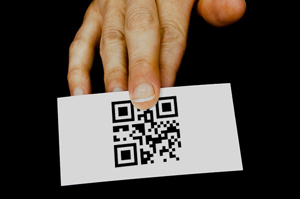 Printed QR Code on a Business Card
