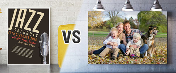 Canvas vs Poster