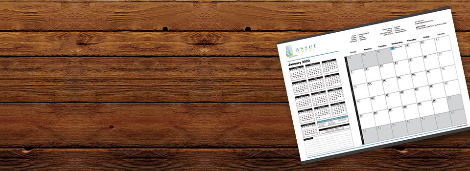 Asset Print is a proud supplier of high-quality desk pad calendars