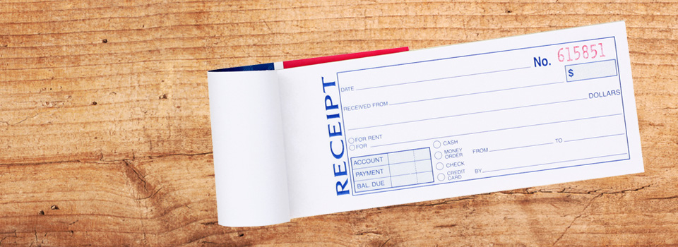 Receipt Book Printing in Cape Town