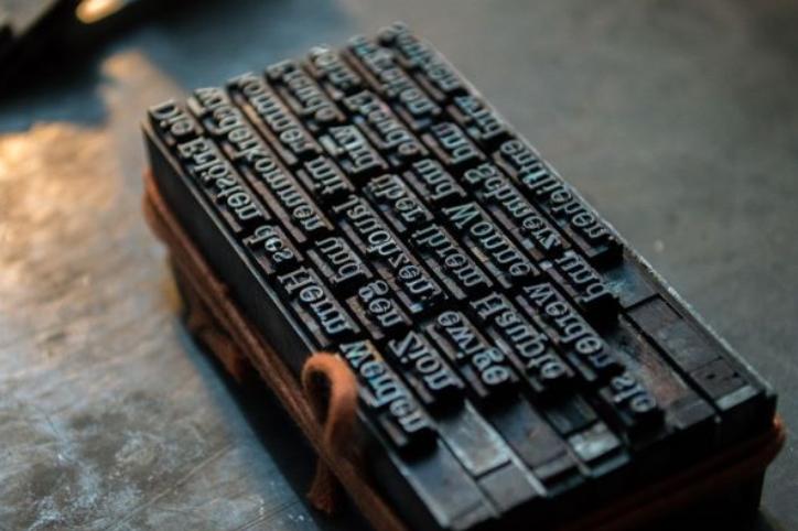 Printing Press Letter Block