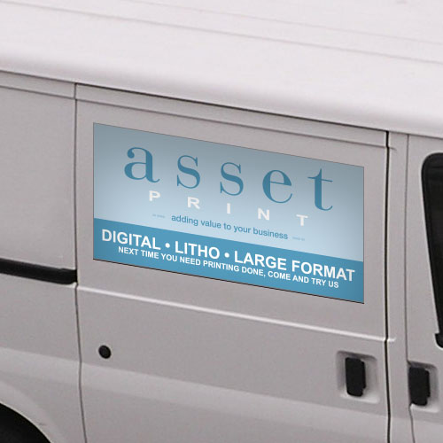 Car Magnets. Printed by Asset Print in Cape Town