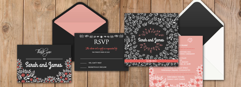Wedding invitations made with love